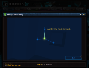 Image of Hackey hosted within Newgrounds.
