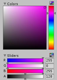 Unity 3D's colour picker.